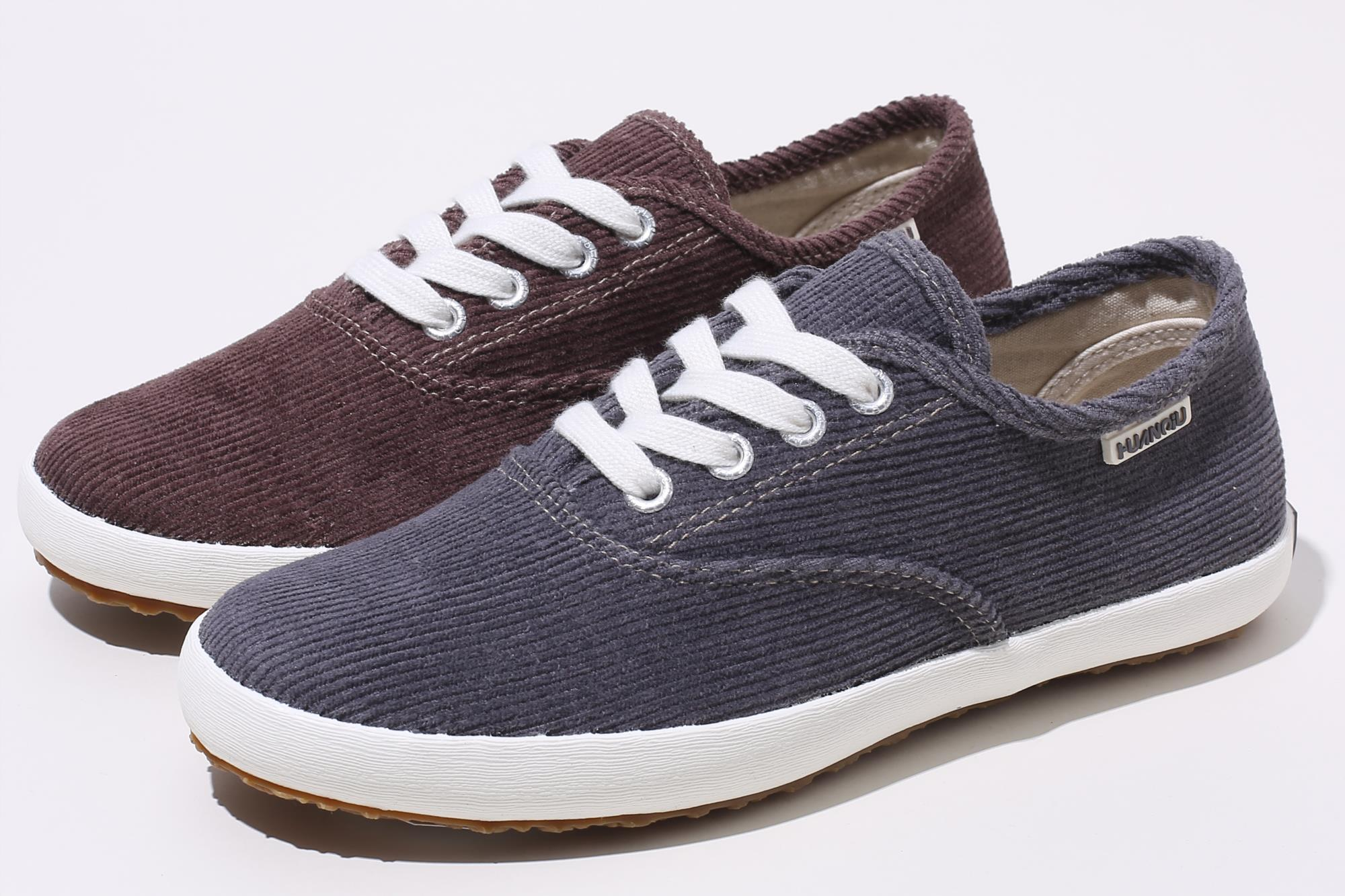 Proper price top quality elegant cheap corduroy women sport shoes with multi size
