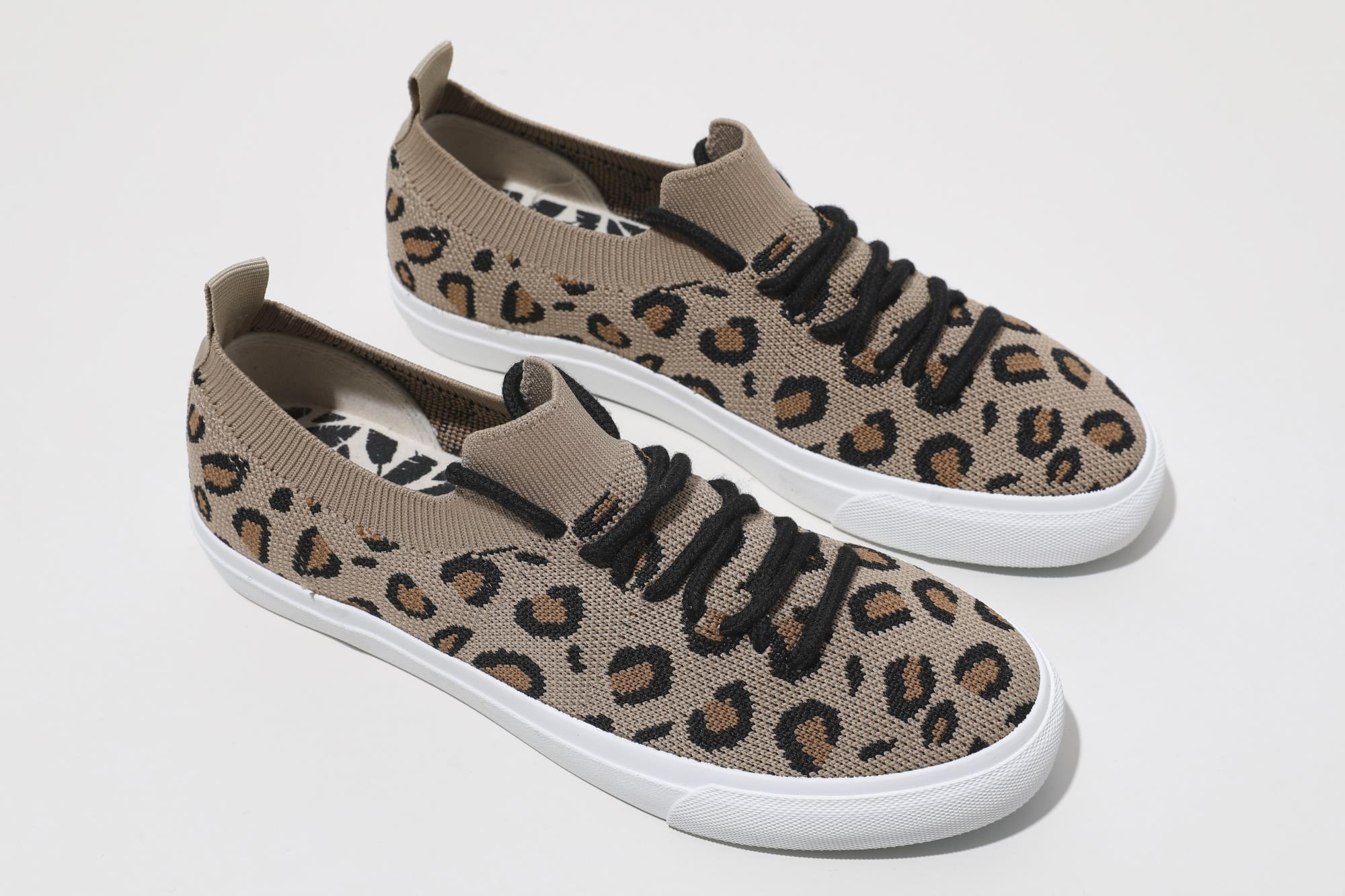 High quality durable using ladies flat casual leopard shoes sports shoes women sneakers fall women shoes